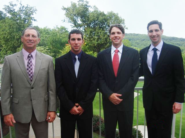 Pictured here (left to right): Dave Becker (father), Mark Becker (youngest son), Joseph Becker (middle son), and Daniel Becker (oldest son)